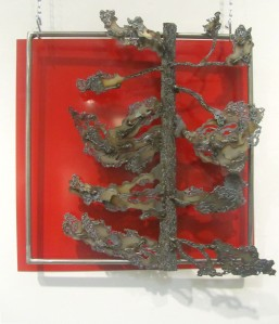 1. Kaylyn Roloson, The Lonely Evergreen, Sheet Metal, Found Metal, 22x22,2012