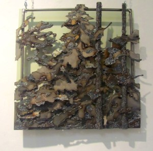 2. Kaylyn Roloson,Lost in the Forest, Sheet Metal, Found Metal 22x22,2012