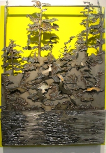 3. Kaylyn Roloson,Across the Lake, Sheet Metal, 36 x 26, 2012