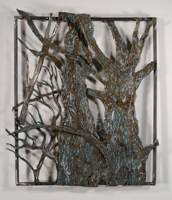 Kaylyn Roloson, Metal Sculpture 2, Sheet Metal, 20 x 24, 2012