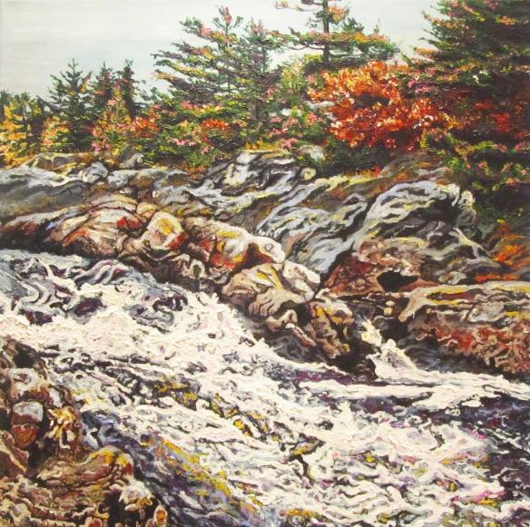 7. Kaylyn Roloson,MacTier Rapids, Acrlyic Paint, 20x20,2013